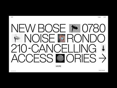 Bose visual exploration typogaphy modern website web design branding web design ux clean ui