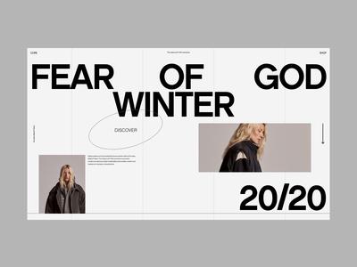 FOG typogaphy modern website web design branding web design ux clean ui