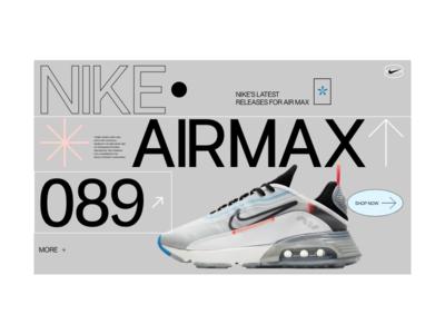 NIKE AIRMAX typogaphy modern website web design branding web design ux clean ui