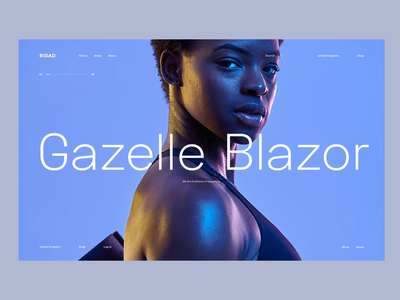 Gazelle typography website web design clean branding web design ux ui