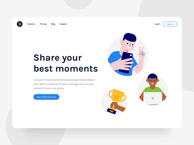 Seed Round Animations phone guy product tech startup assets page vector website trophy social like ui landing selfie flat lottie illlustration animation drawer