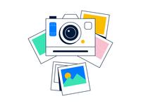 🤫 Sneak peek 🤫 instax polaroid startup web ui landing assets shot image camera photos lottie animation illustration drawer secret peek sneak