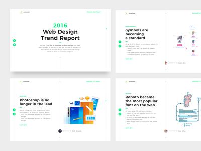 2016 Design Report ux ui web avocode illustrations illustrators collaboration photoshop sketch trends design report