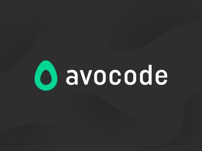 New Avocode Logo code technology white black green waves typography avocado rebrand redesign logo avocode