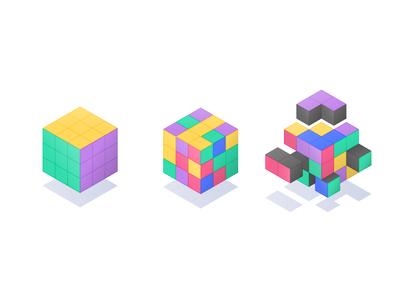 Product Roadmap Illustration product development steps rubik cube public roadmap