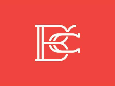 BČ monogram white red branding brand c letters lettering icon typography logo monogram