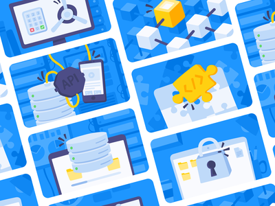 Banner Images - Blue ui branding data api mimo app coding learn blockchain privacy cybersecurity hacking sql programming code illustration banner