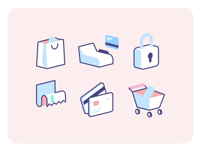 Essential eCommerce Icons product application app ux ui ecommerce icons json eshop web free assets drawer marketplace market checkout vector lottie illustration animation