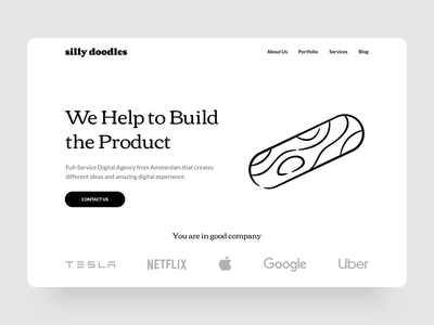 Silly Doodles services collaboration ui portfolio web product silly vector animation lottie landing agency pen ruler knife pencil tool design abstract drawer