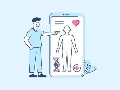 Dr. Vector diagnosis web brand illustration ui data pulse blood landing vector animation lottie mobile body heart dna app medical doctor drawer