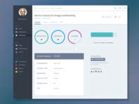 Dashboard Web App Product UI Design: Contract Management