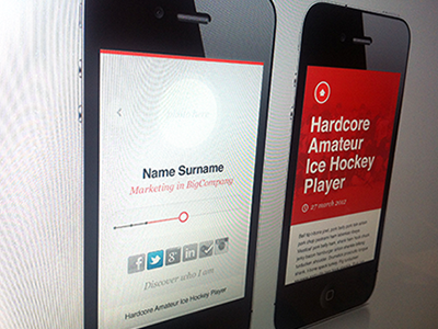 Mobile version of Personal Site mobile web ui ux responsive web red responsive