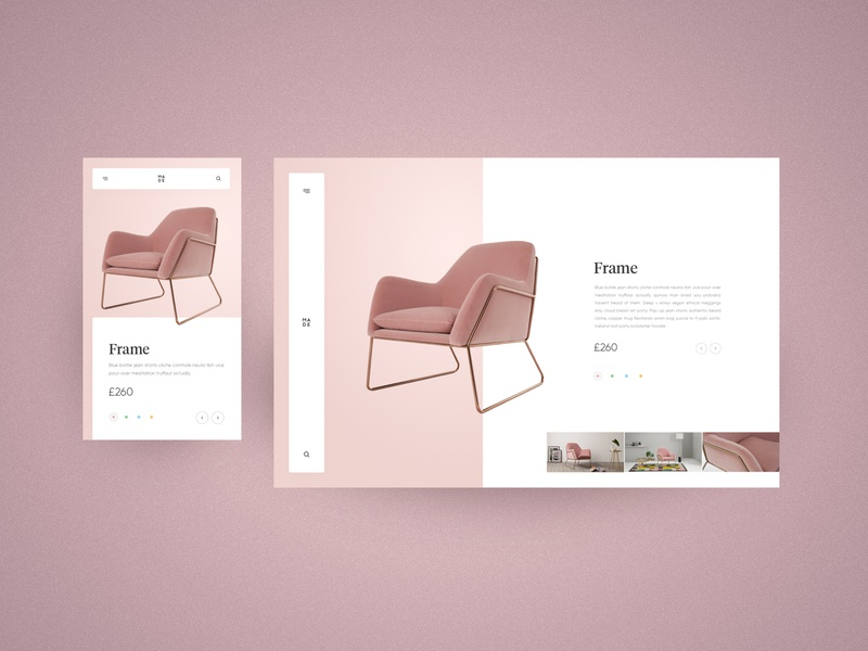 MADE - product concept rose gold chair furniture ux-ui ux webdesign website interaction concept interface design interface