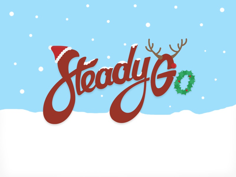 Christmas with SteadyGo icon season snow holly santa holiday design christmas logo