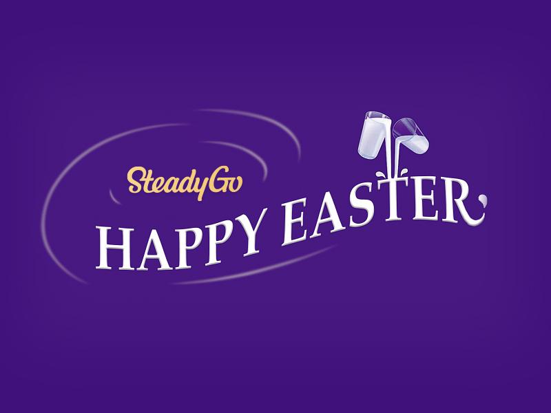 Happy Easter branding digital weekend cadbury steadygo easter happy