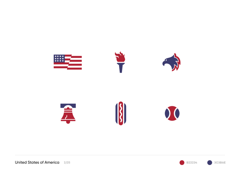 United States abstract illustration simple iconsets icons culture america united states usa