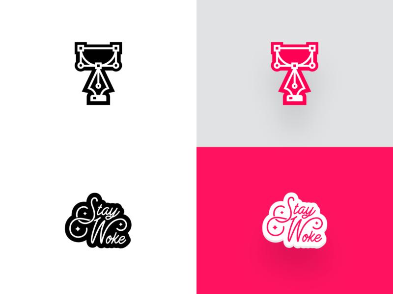Unfold Stickers vector simple sticker design unfold stay woke stickers sticker