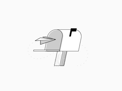 Mailbox email mail branding web flat abstract illustration simple modern