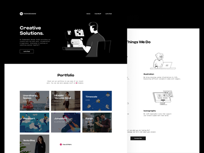 Personal Website design modern simple illustration web design portfolio redesign website