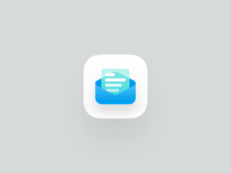 Email Icon website illustration modern simple 3d design icon email