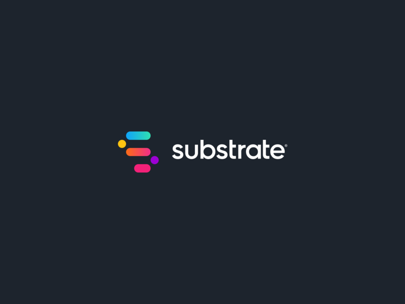 Substrate Branding vector clean icon web design branding design simple substrate modern logo branding