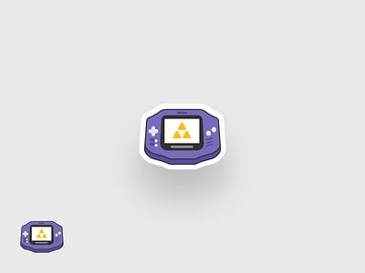 Gameboy Advance web simple modern design illustration throwback zelda nintendo gameboy game