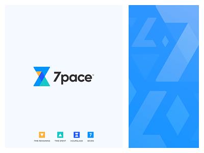 7 Pace Branding abstract simple modern logo branding design branding timer pace
