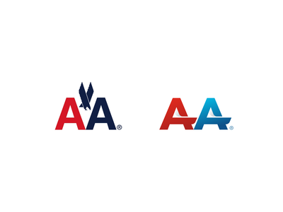 American Airlines redesign refresh modern simple logomark branding brand logo