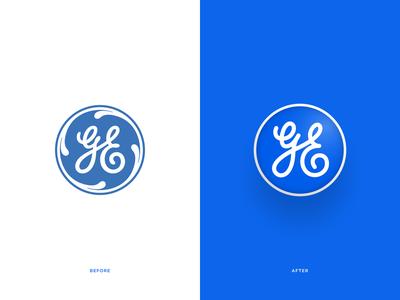 General Electric Concept design branding logo modern simple rebrand exploration concept