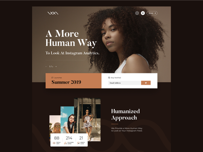 Analytics Landing Page typography ux ui web design modern concept website concept website