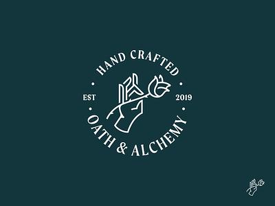 Oath & Alchemy Logo Refresh flat simple branding brand redesign refresh