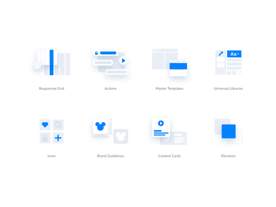 Medium Spot Icons web simple abstract illustration modern