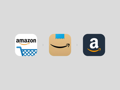 Amazon Icon branding logomark logo redesign refresh amazon app icon