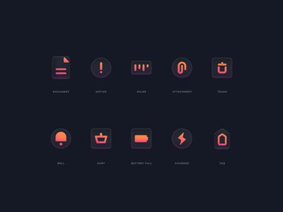 Glass Icons 2 web illustration simple glass effect glass modern iconography icons