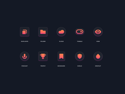 Glass Icons 3 simple vector branding abstract modern icons set glasss icons