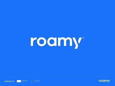 Roamy Logo modern vector design simple logotype branding domain brand sale logo