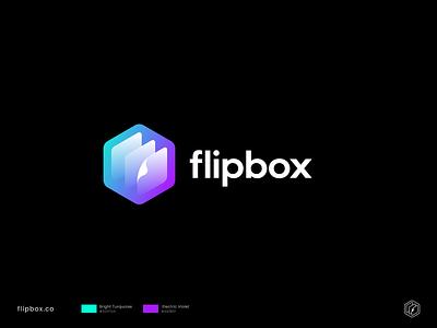 Flipbox Logo timelapse box flip vector web isometric abstract modern branding domain sale logo