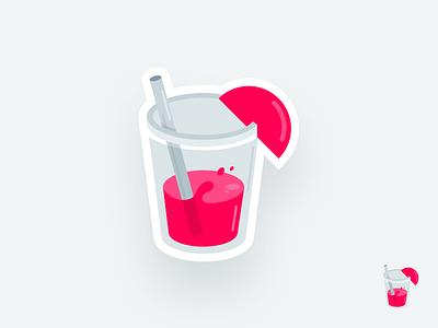 Woke Juice illustration vector design simple modern illustrations sticker wokejuice