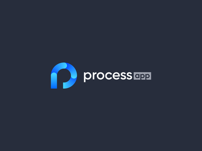 Processapp Logo simple abstract modern design branding logo