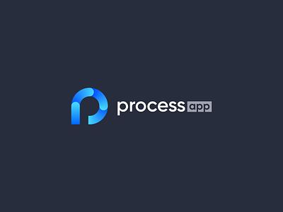 Processapp Logo simple abstract modern design branding logo
