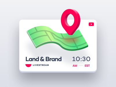 Land & Brand Stream branding design branding live youtube stream