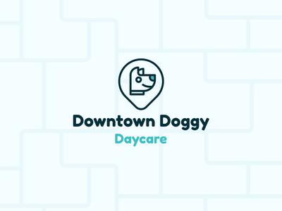 Downtown Doggy Daycare Redesign logodesigns downtown daycare dog typography simple modern vector branding design logodesign