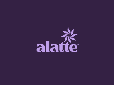 Alatte Branding latte espresso logo simple modern coffee shop branding coffee