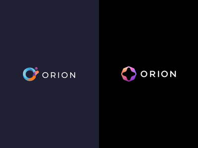 Orion Crypto Branding brand design simple logo branding modern bitcoin cryptocurrency currency crypto