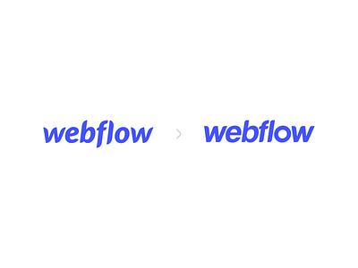 Webflow Logo Concept modern simple logotype refresh redesign branding concept branding logo