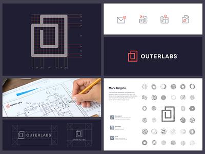 Outerlabs Branding logo design brandguidelines guidelines industrial simple modern brand branding