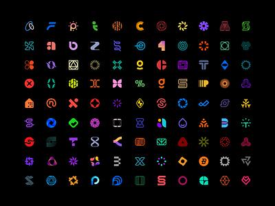 Logo Collection design vector branding abstract simple modern logochallenge logomark logofolio logo