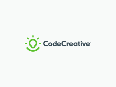 CodeCreative Branding design flat illustration abstract simple modern development code creative logo brand branding