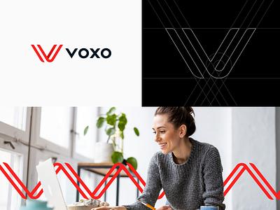 VOXO Branding design logomark logo communication simple modern identity design brand branding