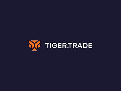 TigerTrade Branding design abstract trade branding simple modern logomark logo t animal tiger